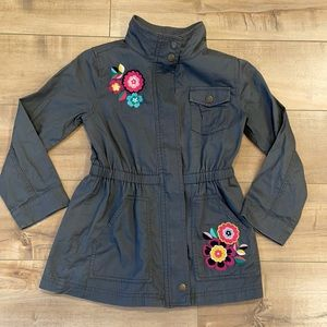 Hanna Andersson Girls Utility Jacket Floral Sz 8